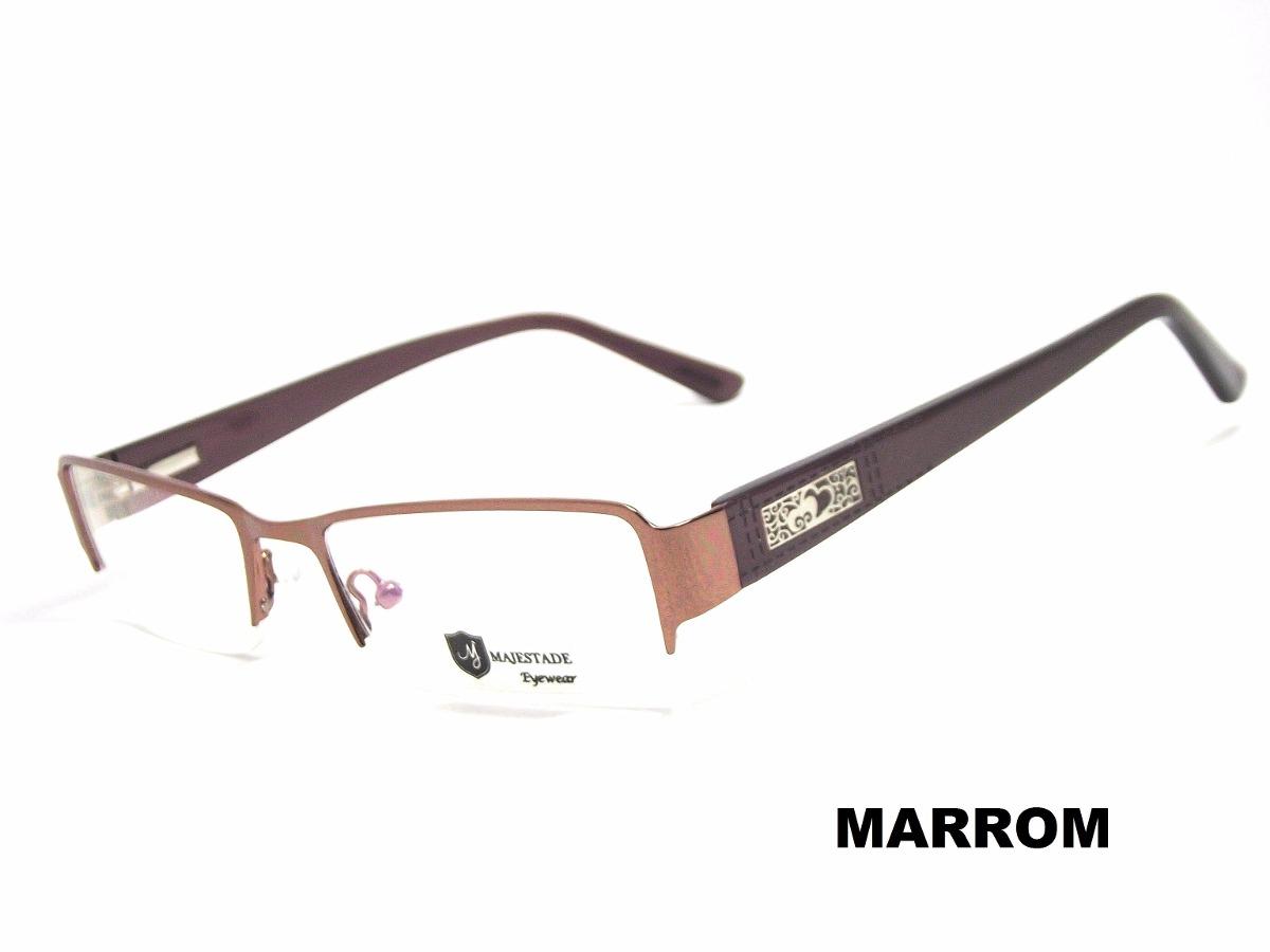 Armação Óculos Feminino Para Grau Marrom Jc1070 C4 Mj - R  79,99 em ... 760f84b6da