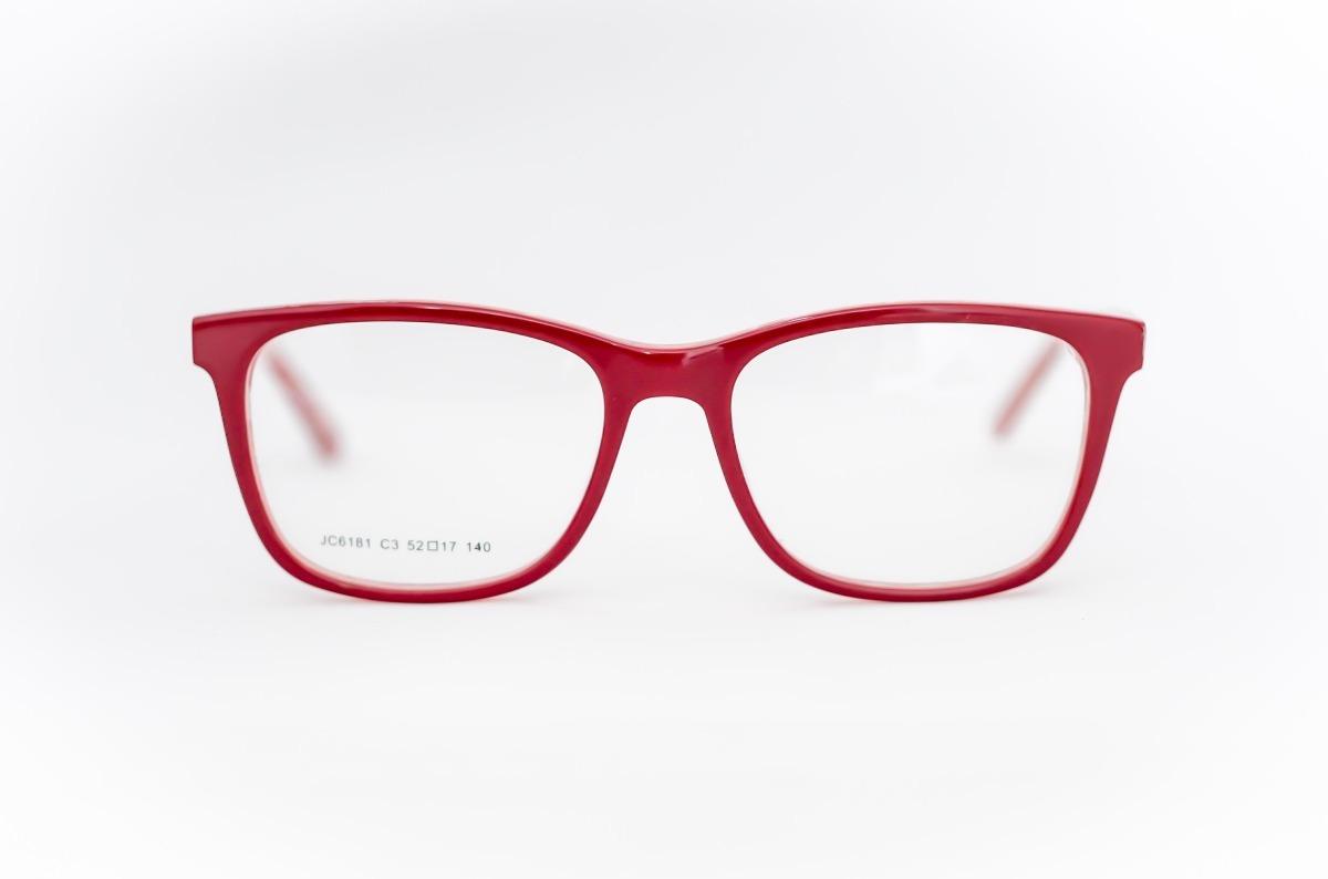 1eae75d9cf09b armação oculos feminino quadrado vermelho detalhe dentro. Carregando zoom.