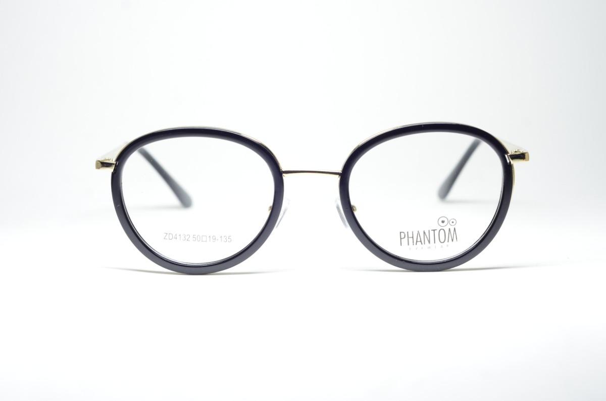2d6e52e247986 Armação Óculos Feminino Redondo Acetato Resistente Preto - R  79