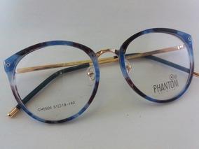 89bd60d46 Armação Óculos Feminino Qualidade Retro Redondo Grande Moda · R$ 189. 12x  R$ 15 sem juros. Frete grátis