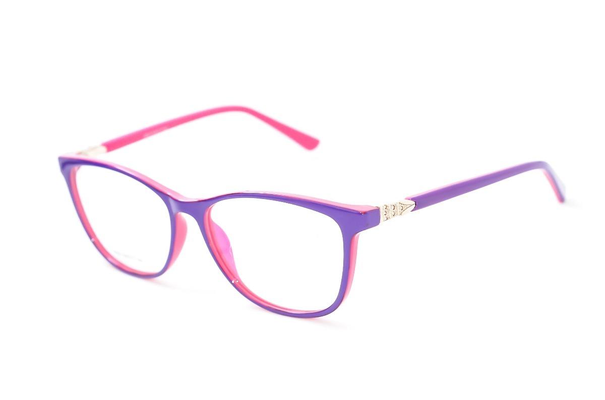 68788c9bad505 armação óculos feminino rosa e azul infanto juvenil tr152. Carregando zoom.