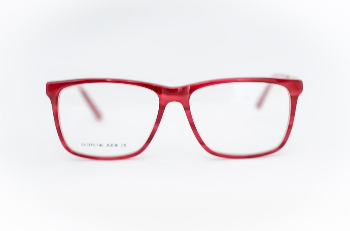 e7f8b8b2829a2 Armação Oculos Feminino Vermelho Quadrado Jc830 - R  99,87 em ...