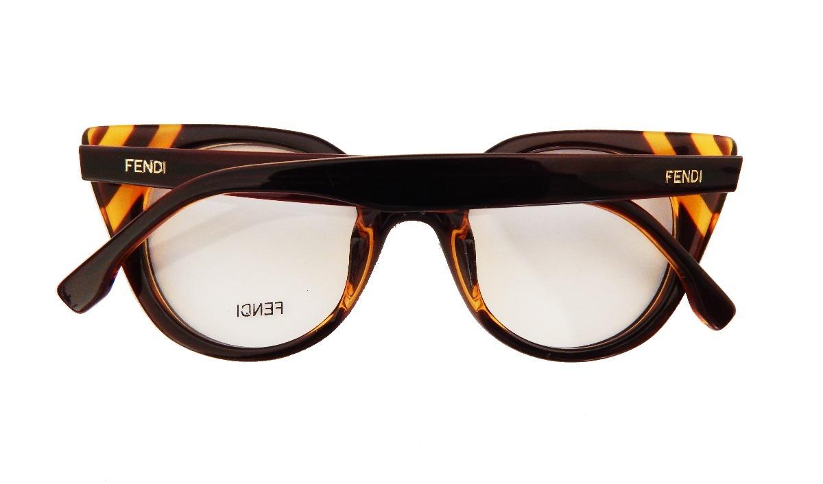 armação óculos grau fendi ff0246 feminino gatinho marrom. Carregando  zoom... armação óculos fendi. Carregando zoom. 90a44495b0