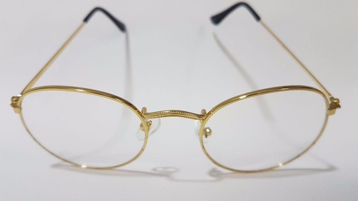bfdbc0f6f9ad2 Armação Óculos Fina Unissex 18404 - Dourado Com Preto - R  19,98 em ...