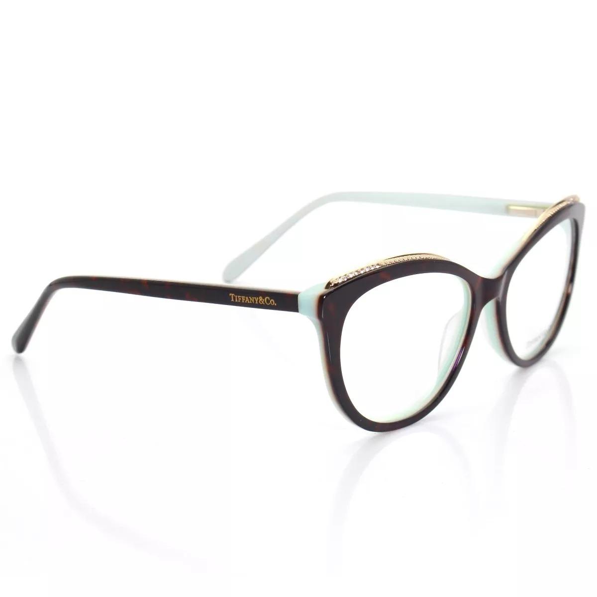 0ada6162f Armação Óculos Gatinho Com Strass Feminino Tf2147 Com Kit - R$ 199 ...