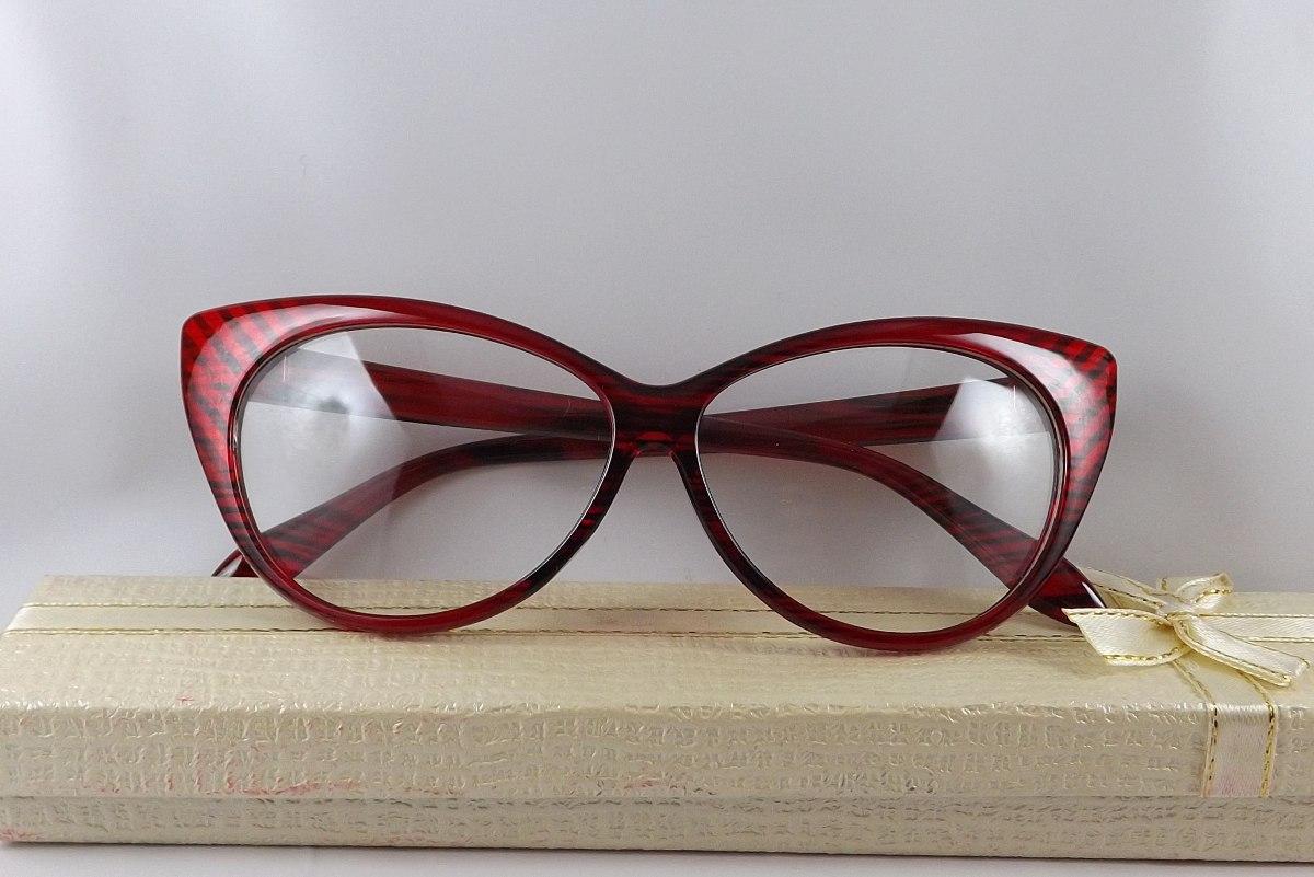 75d7b82906968 armação óculos gatinho vintage vermelha com riscos preto. Carregando zoom.