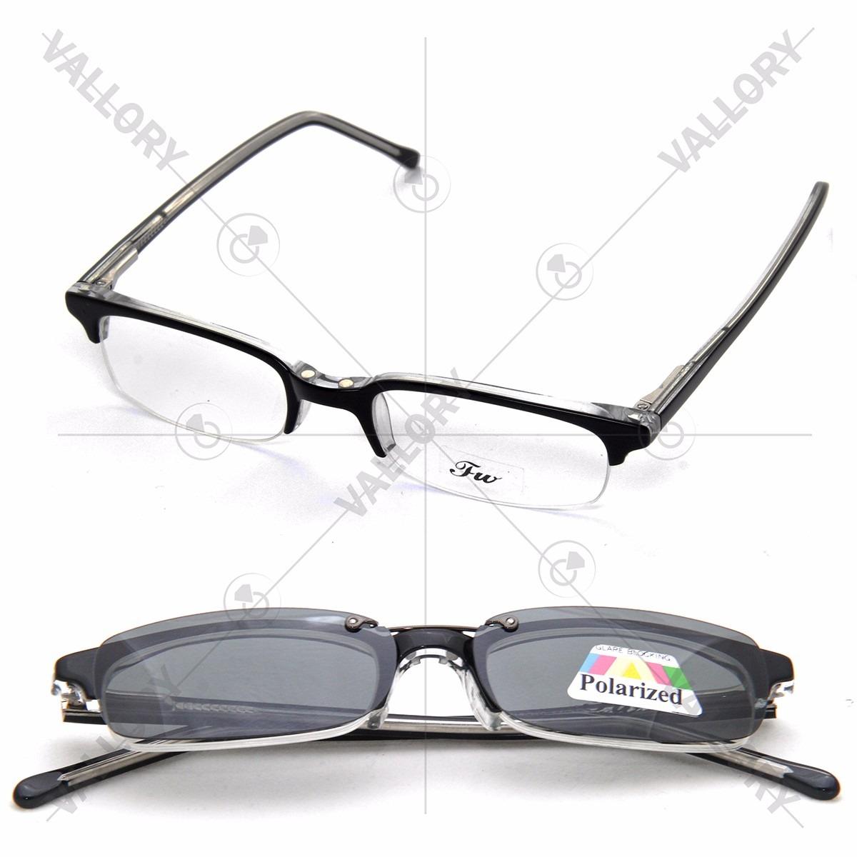 88aae9a4210ac armação oculos grau 2 clip on masculino feminino polarized. Carregando zoom.