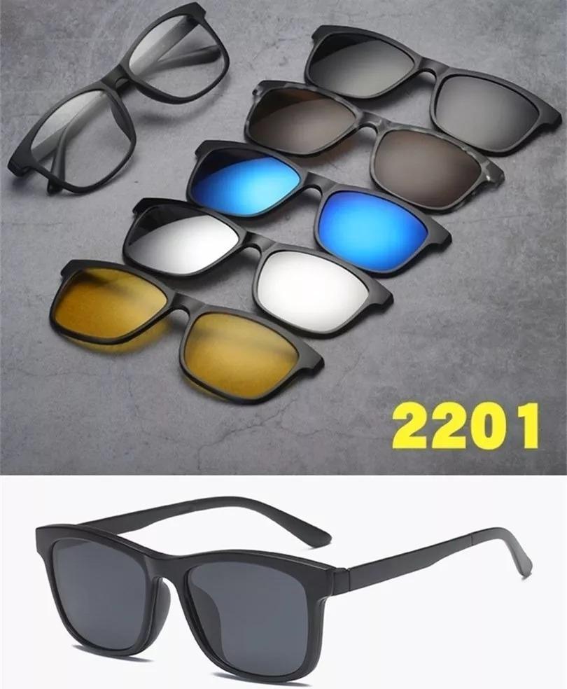 b94db9c6d3ebb armação óculos grau 6 em 1 + clip on polarizado modelo 2201. Carregando  zoom.
