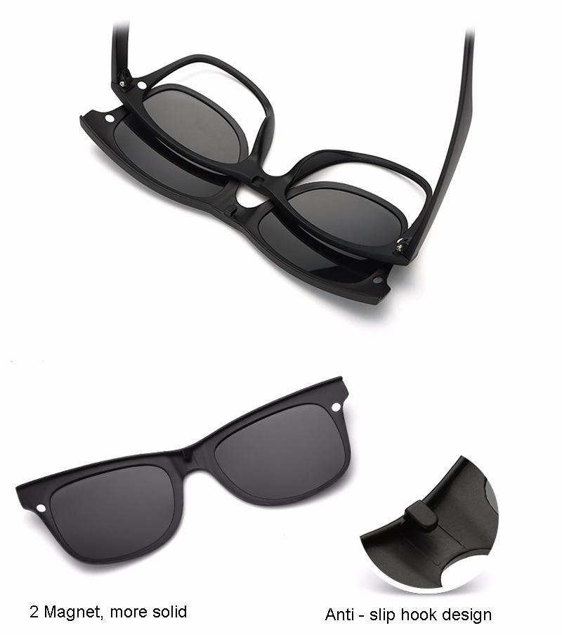 cad7be0fa armação óculos grau 6 em 1 + clip on sol e noite polarizado. Carregando  zoom.