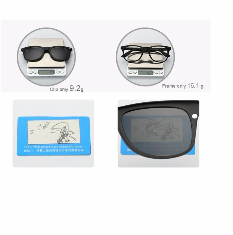 9e9ad74f8 Armação Óculos Grau 6 Em 1 + Clip On Sol E Noite Polarizado - R$ 139 ...