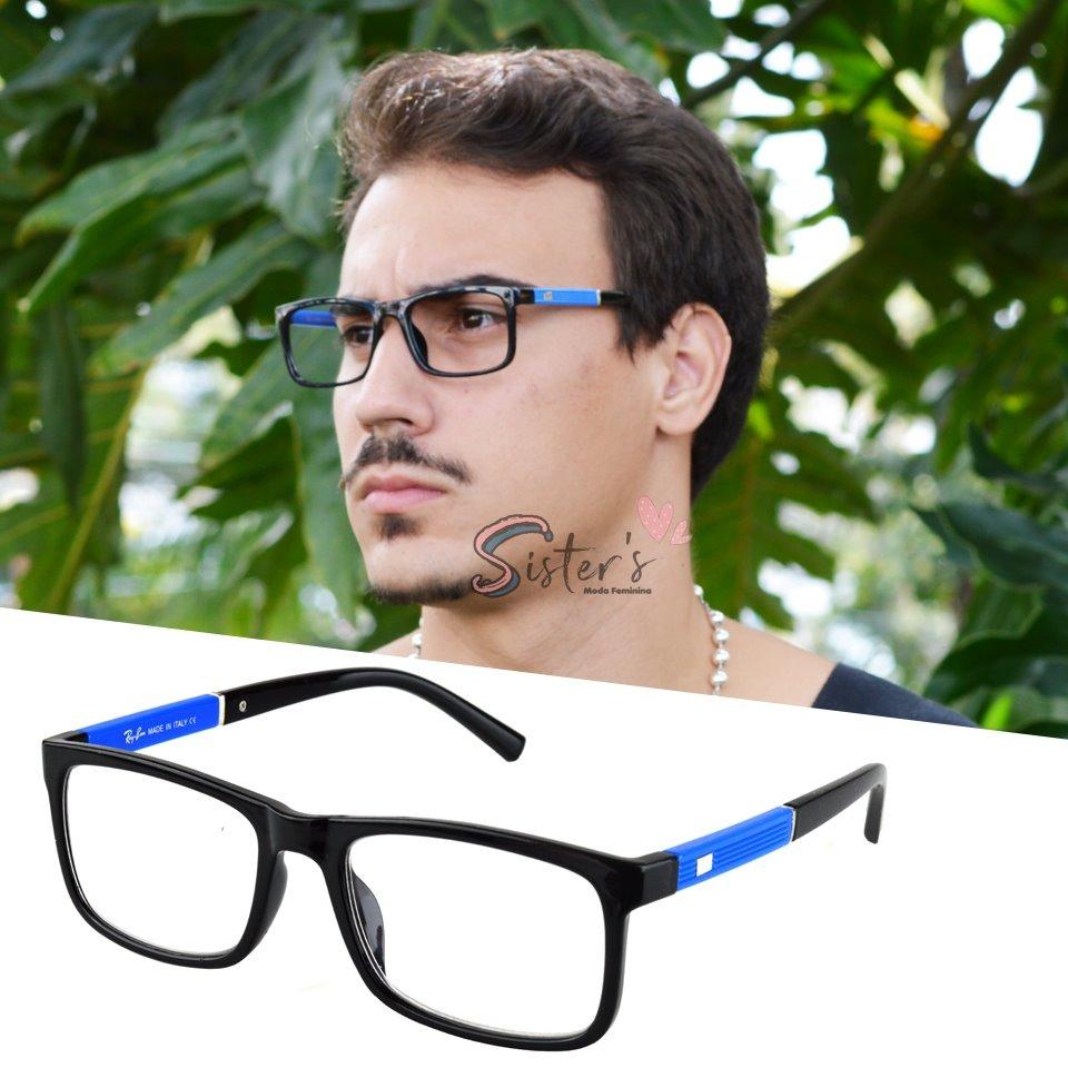 04121e6749ce4 armação óculos grau acetato rayban quadrado masculino rb5001. Carregando  zoom.