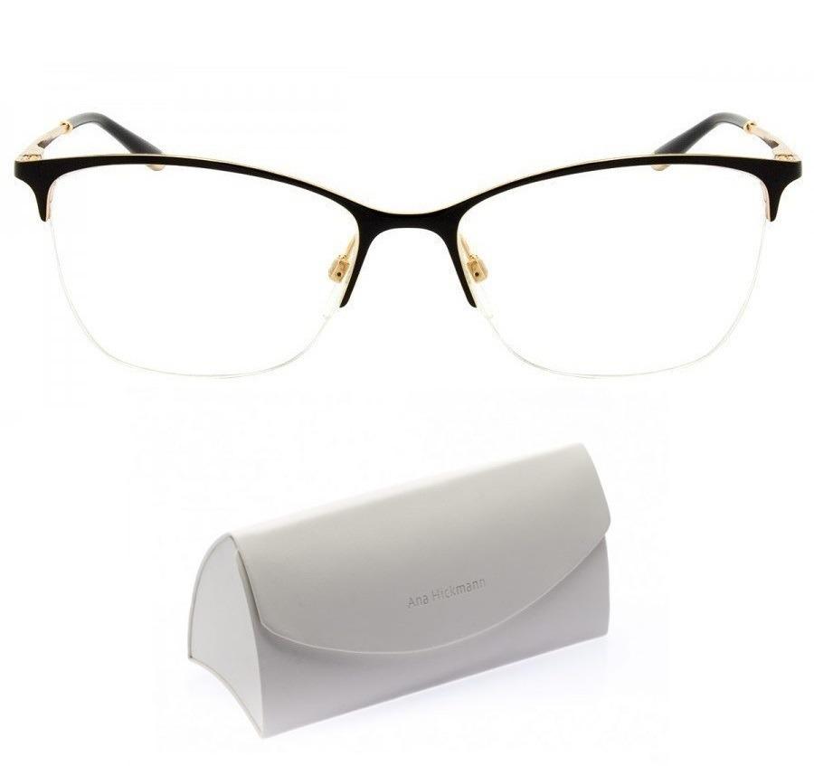 Armação Óculos Grau Ana Hickmann Ah 1245 1318 Tam 53 17 140 - R  219 ... 7b64d5141c
