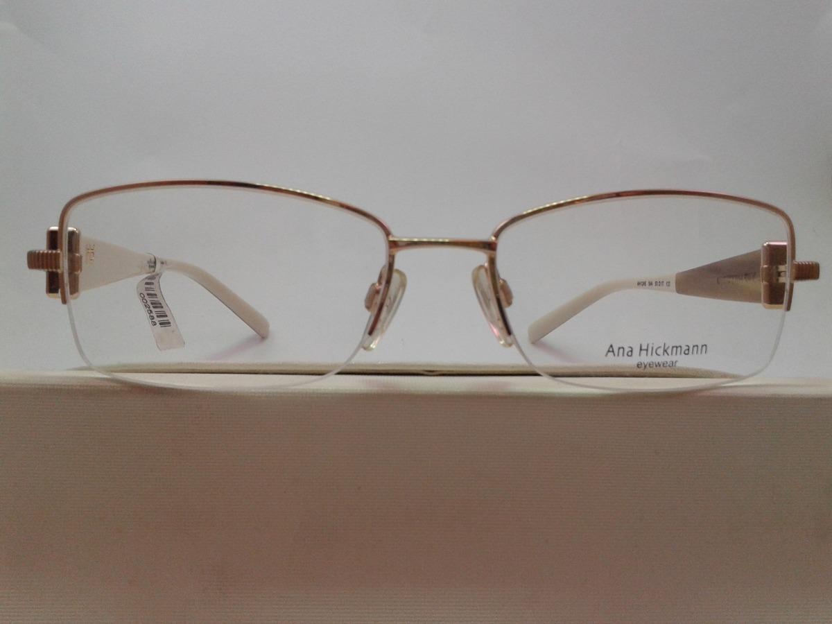 Armação Óculos Grau Ana Hickmann Ah1245 04a Feminino - R  269,00 em ... 28c66db113