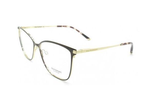 9a9ce5d14af7c Armação Oculos Grau Ana Hickmann Ah1340 01a Dourado Marrom - R  359 ...