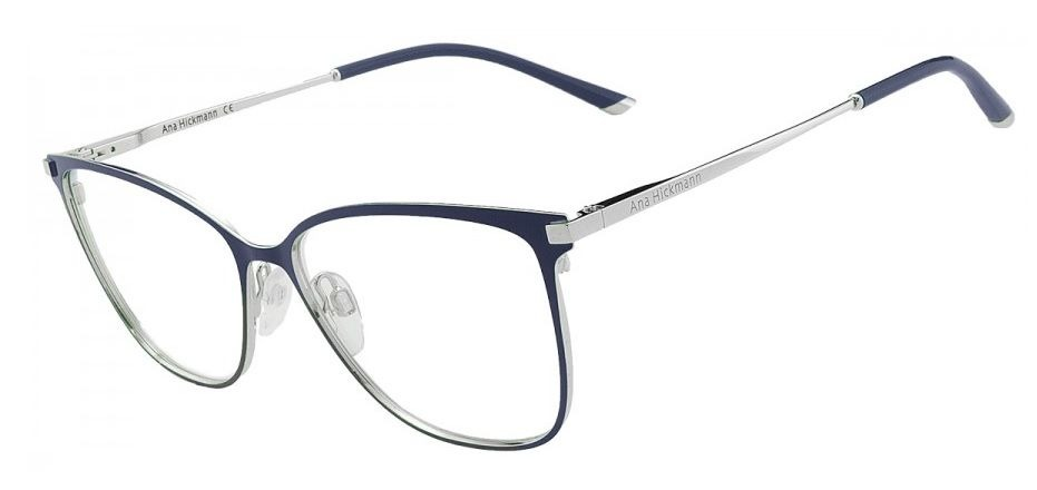 0943689c5b182 armação oculos grau ana hickmann ah1340 06a azul prata. Carregando zoom.
