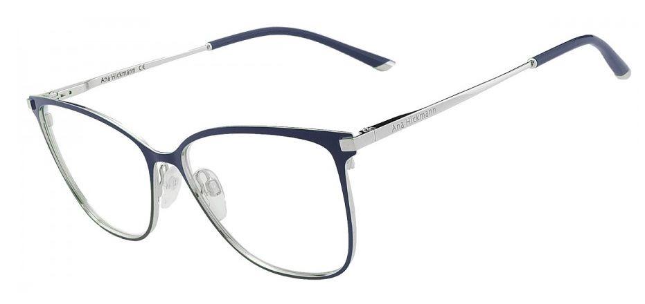 9a981913563e2 armação oculos grau ana hickmann ah1340 06a azul prata. Carregando zoom.