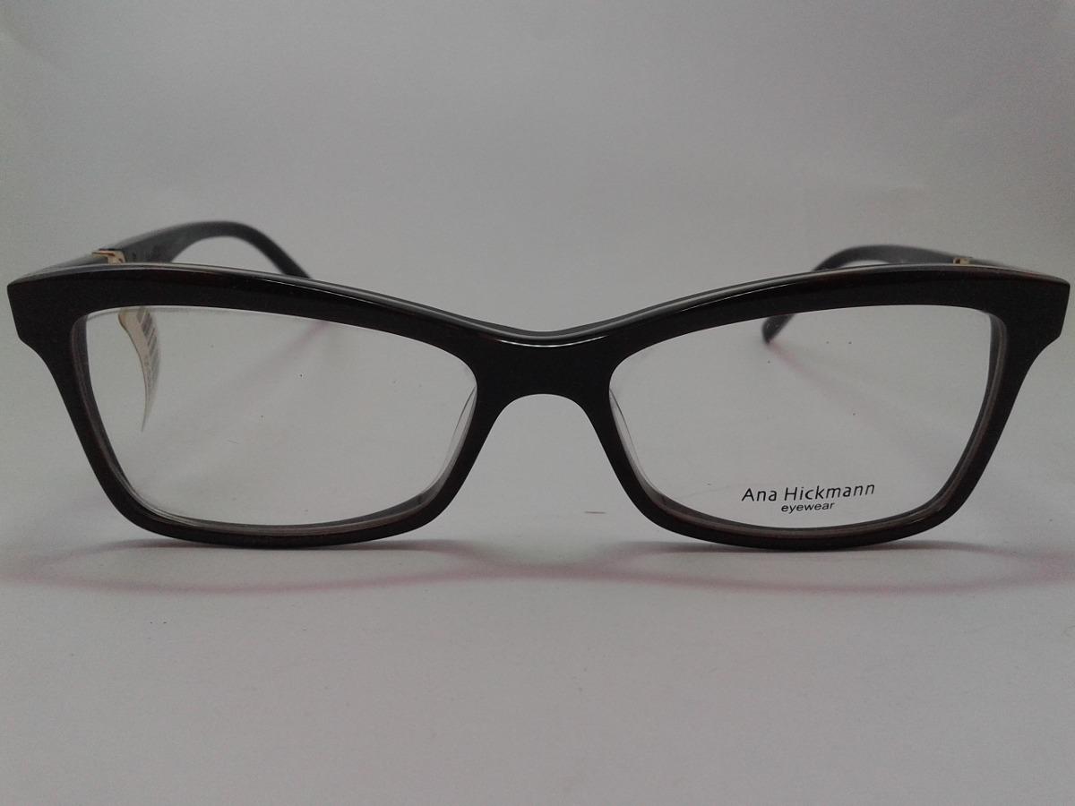 25f01a1016934 armação óculos grau ana hickmann ah6179 g08 marron ref 78. Carregando zoom.