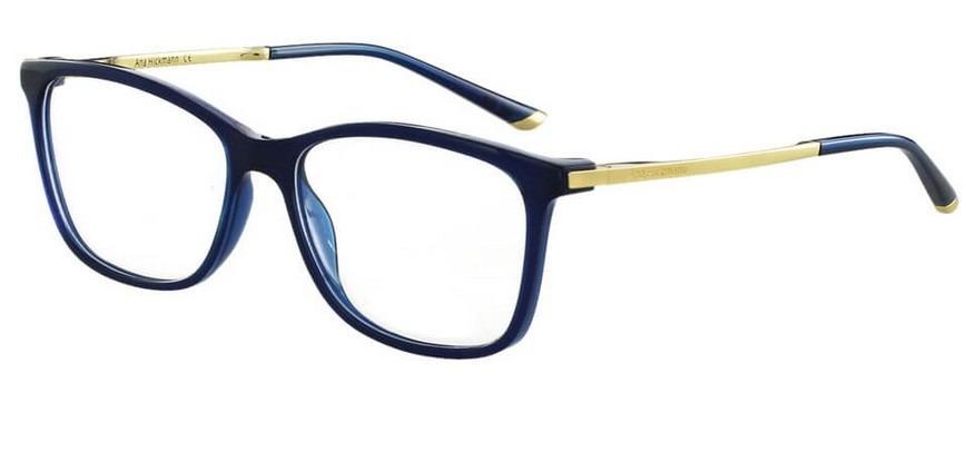 Armação Oculos Grau Ana Hickmann Ah6264 T02 Azul Dourado - R  349,00 em 7ccb2ccfa9
