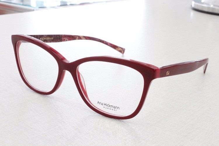 4166a1cc90395 Armação Óculos Grau Ana Hickmann Lançamento Original - 6257 - R  429 ...