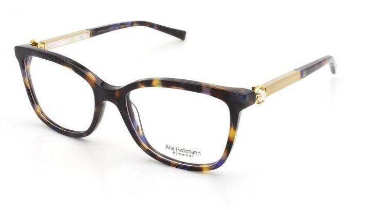 2ca6ba8439f86 Armação Oculos Grau Ana Hickmann Paris I Glow Azul Demi - R  399,00 ...