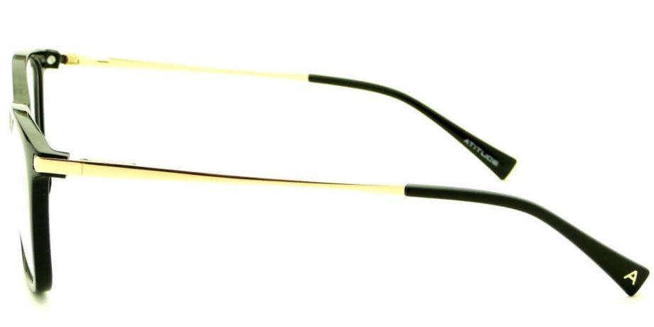 5785a186d armação oculos grau atitude at4038 a01 preto brilho dourado. Carregando zoom .