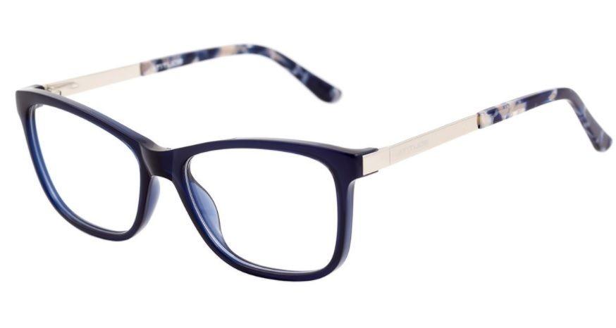 8f6ed24dd844f armação oculos grau atitude at4098 d01 azul prata brilho. Carregando zoom.
