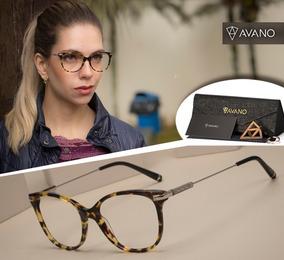 85b9afa50 Armação Oculos Grau Avano Av 248-c Feminino C/ Case Flanela · R$ 70