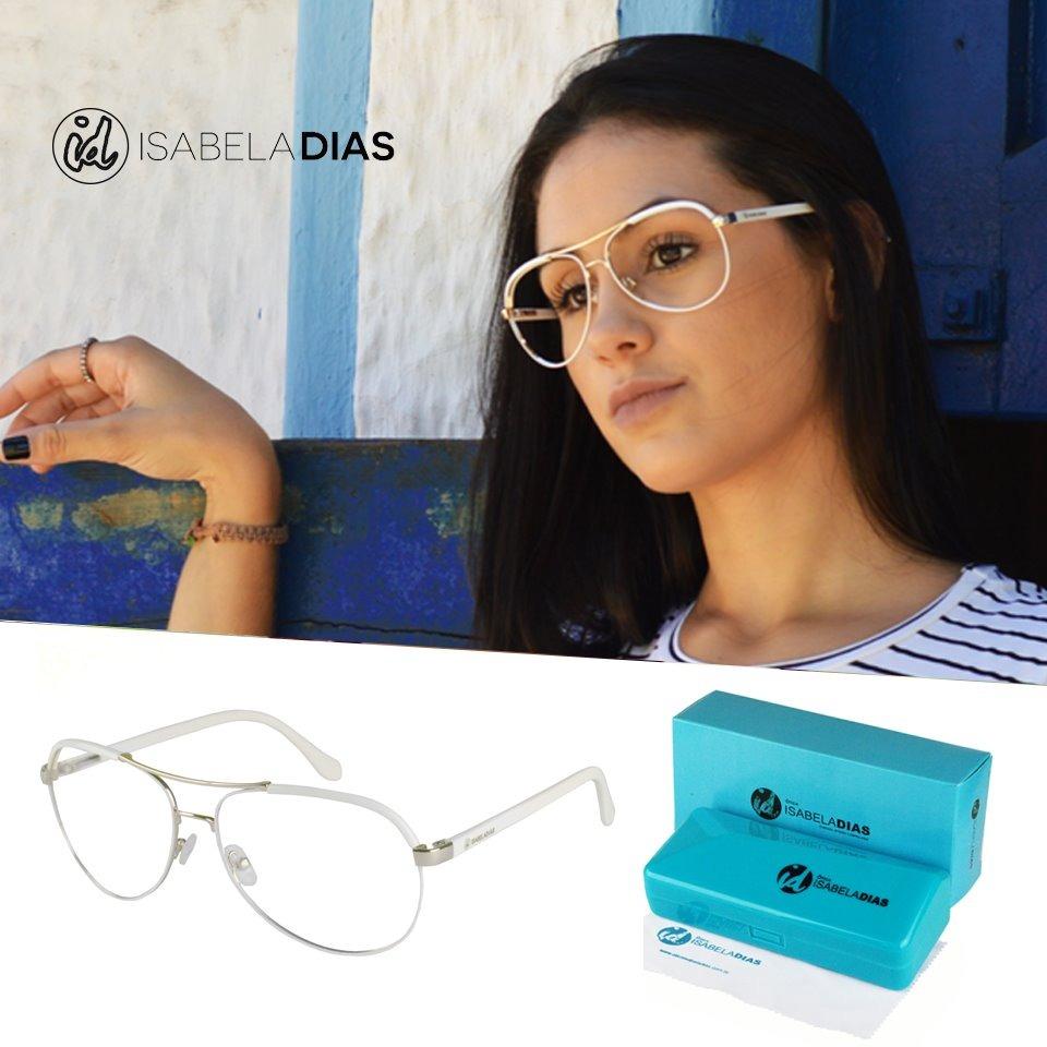 armação óculos grau aviador feminino original metal 141105. Carregando zoom. ab30fdc8c9