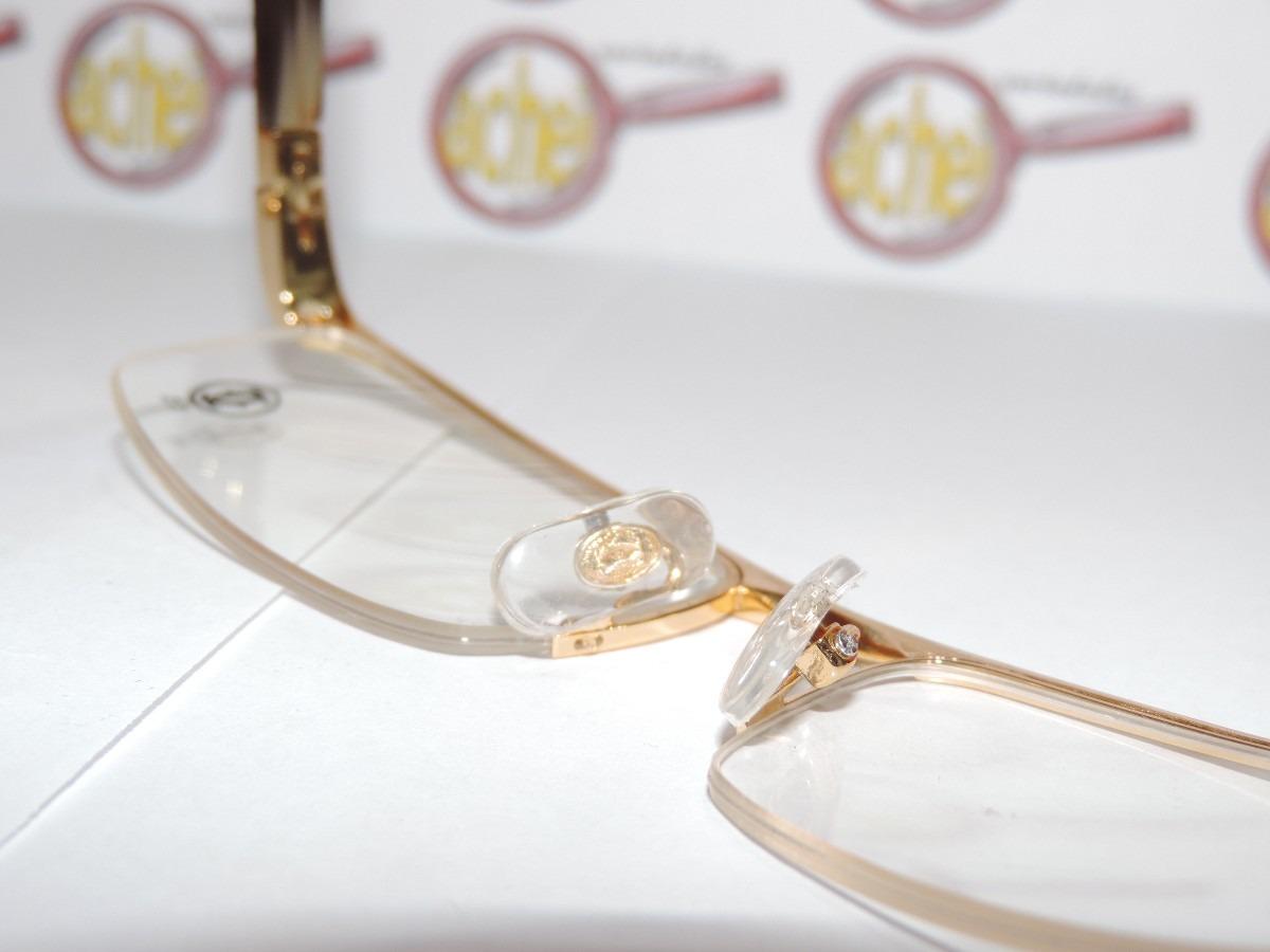 b6112e18fa75a armação oculos grau cartier dourada meio aro acetato 8100816. Carregando  zoom.