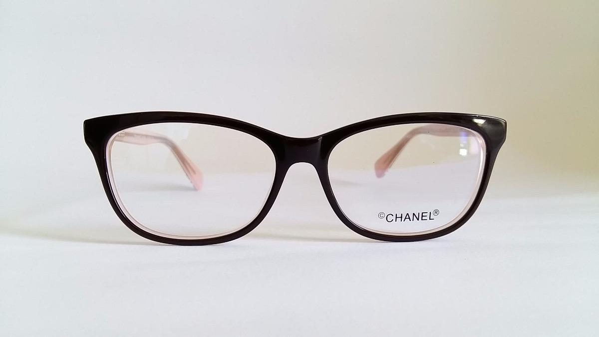 8301877fd5948 armação óculos grau chanel ch4912 acetato marrom e rosa. Carregando zoom.