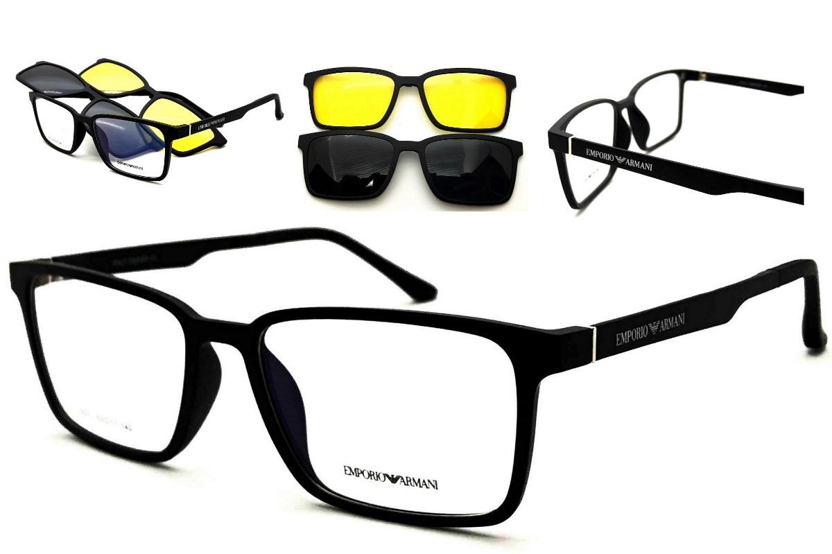 9627e9ba75a5b armação oculos grau clip on original ea5512 premium acetato. Carregando  zoom.