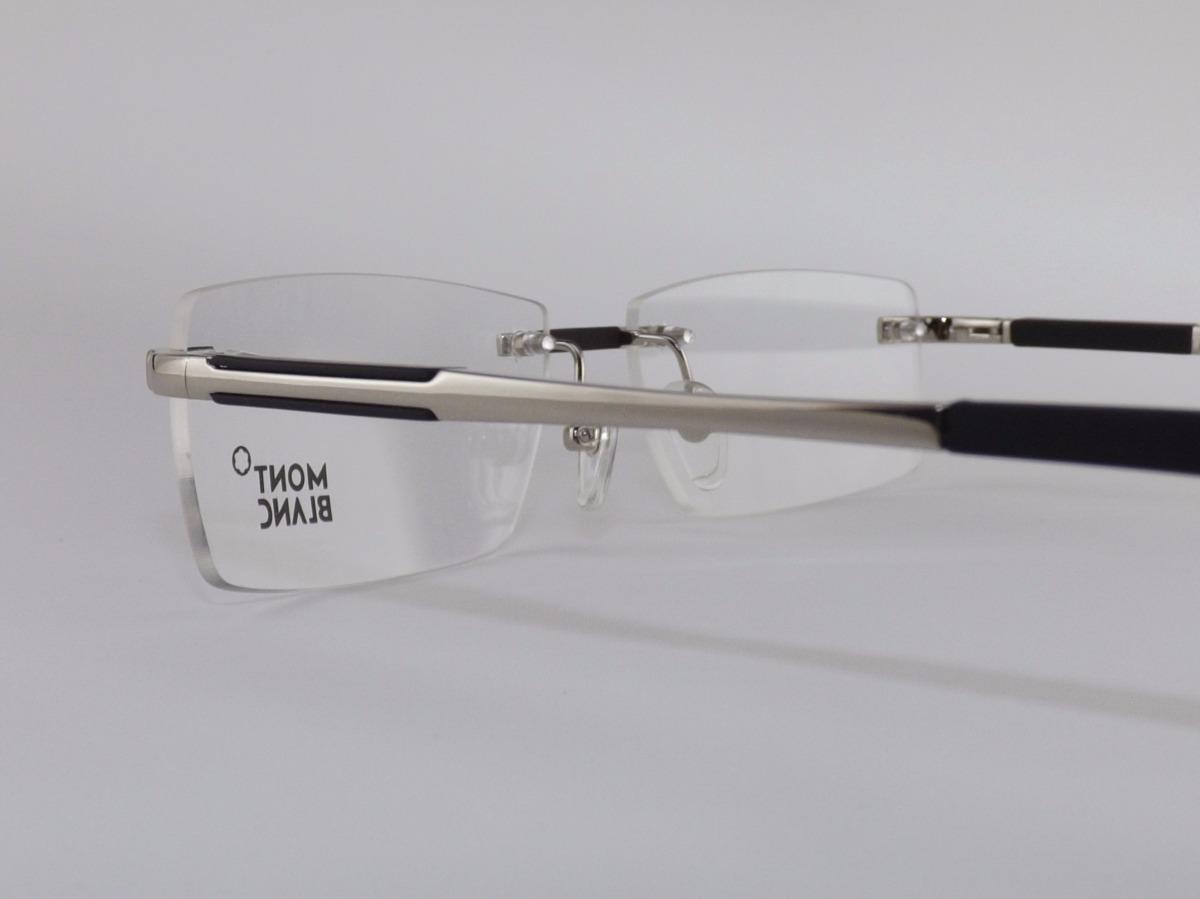 5b6afb48b4531 armação óculos grau de grau sem aro mont blanc varias cores. Carregando zoom .