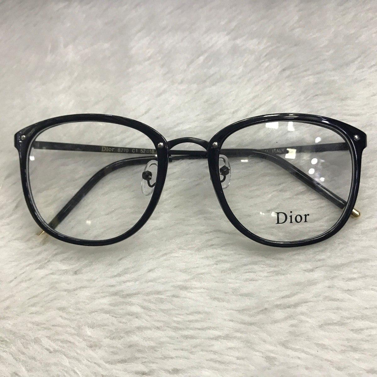 bca061169 armação óculos grau dior feminino quadrado retrô. Carregando zoom.