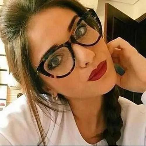 31f9abfbfac60 Armação Oculos Grau Dior Gatinho + Lentes Multifocais - R  499