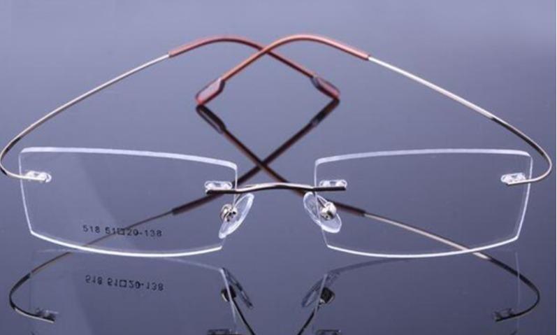 323ed337c Armação Óculos Grau Em Titânio Flexível Sem Aro Confortável - R$ 46 ...