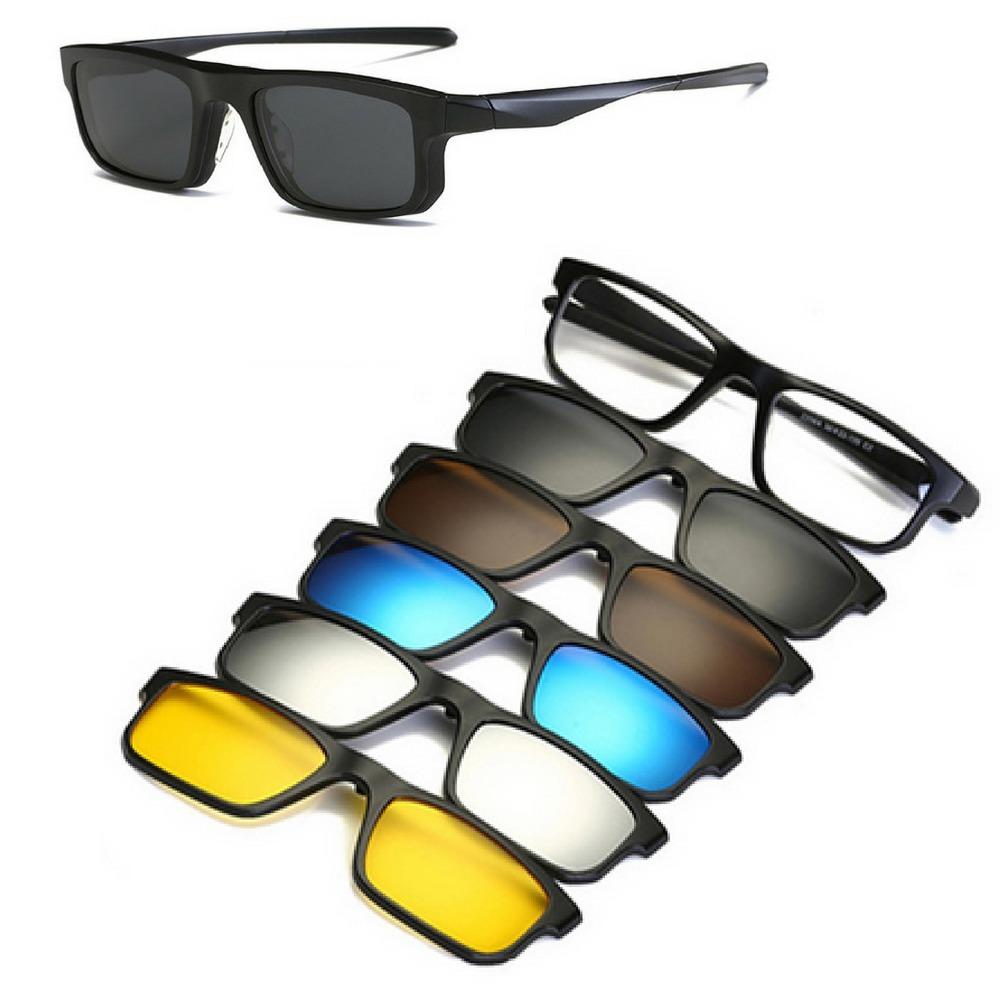 Armação Óculos Grau Em Tr Clip On 6 Em 1 Polarizado Uva Uvb - R  149 ... 5469285d0b