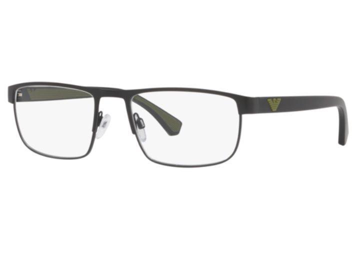 df81e393c Armação Oculos Grau Emporio Armani Ea1086 3001 55 Preto Verd - R ...