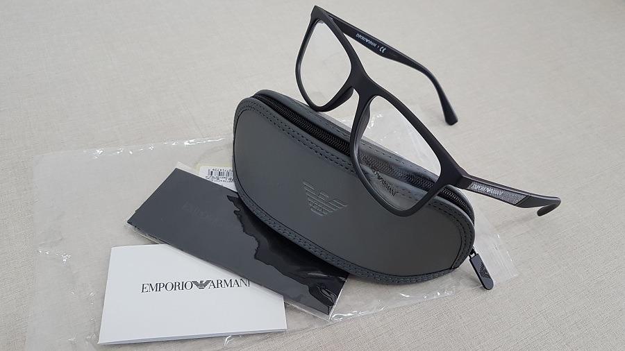 8c81e80be armação oculos grau emporio armani ea3112 5042 56 preto. Carregando zoom.