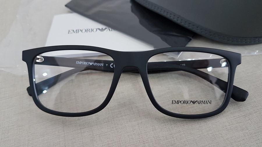46edf62c9a9ea armação oculos grau emporio armani ea3112 5042 56 preto. Carregando zoom.