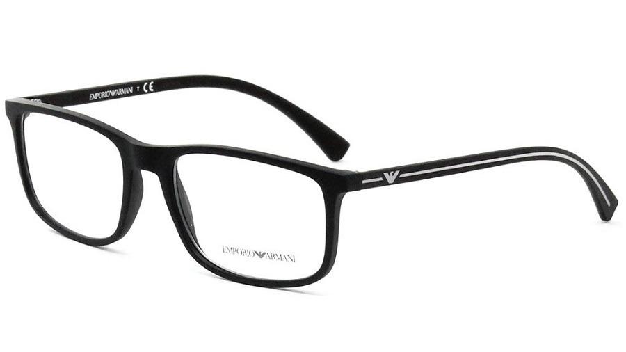armação oculos grau emporio armani ea3135 5063 preto fosco. Carregando zoom. ed6fd7d5ce
