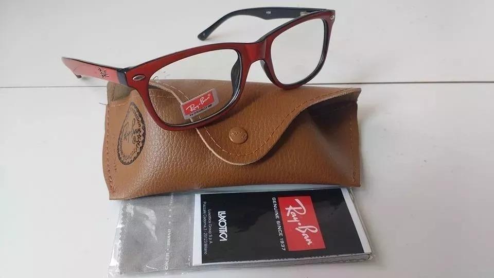 148452fc89355 armação oculos grau estilo rayban 5115 grau leitura grátis. Carregando zoom.