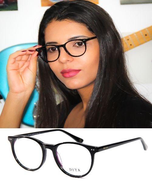 f6bcef520 Armação Oculos Grau Feminina Dita 1068 100% Acetato Original - R ...
