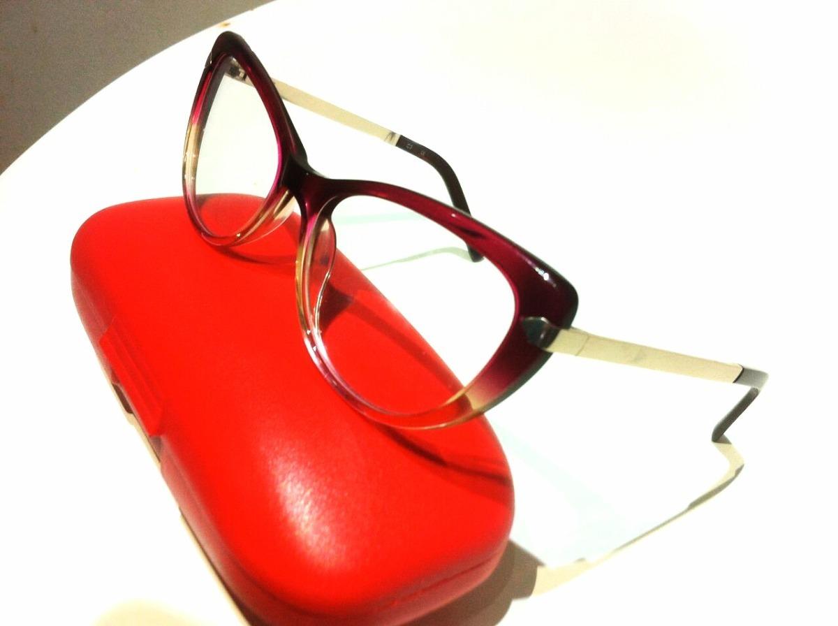 armação óculos grau feminina linda modelo gatinho barato. Carregando zoom. 31aba67df7