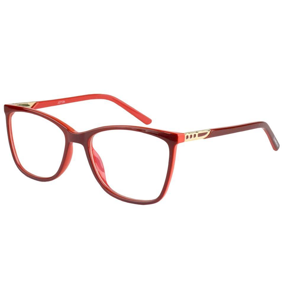 armação óculos grau feminino acetato 7134 vermelho. Carregando zoom. fd3b4f91fe