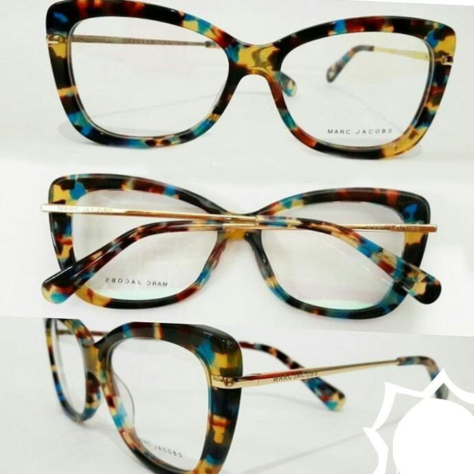 4b438d85e5ed3 Armação Óculos Grau Feminino Acetato + Case De Luxo Gratis - R  119 ...