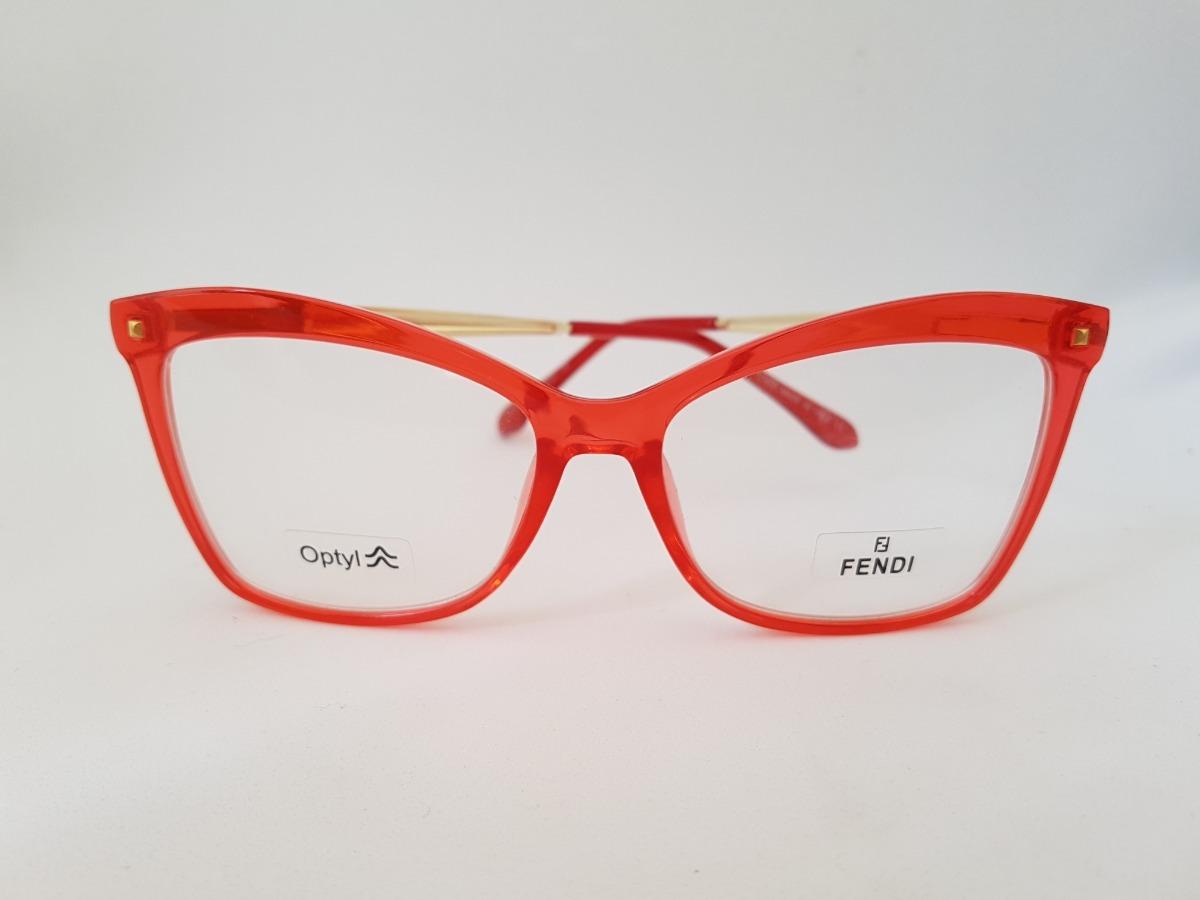 bed9c1ab44d4c armação óculos grau feminino acetato gatinho vermelho. Carregando zoom.
