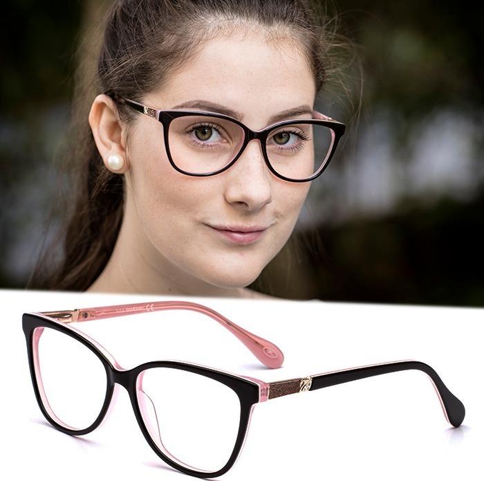 7bb5a0dad Armação Oculos Grau Feminino Acetato Sw3 Importado Original - R$ 120,00 em  Mercado Livre