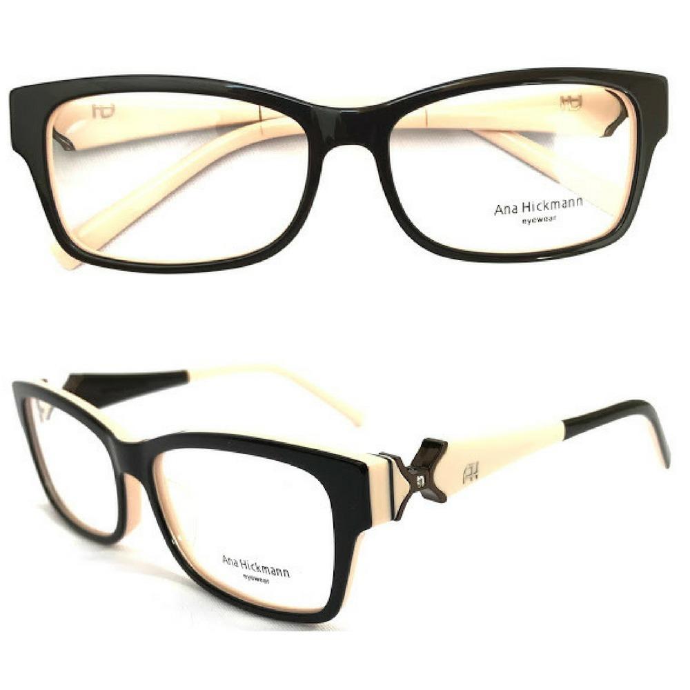 d30496dc6 Armação Oculos Grau Feminino Ah 6202 Preto C/creme Promoção - R$ 64,90 em  Mercado Livre