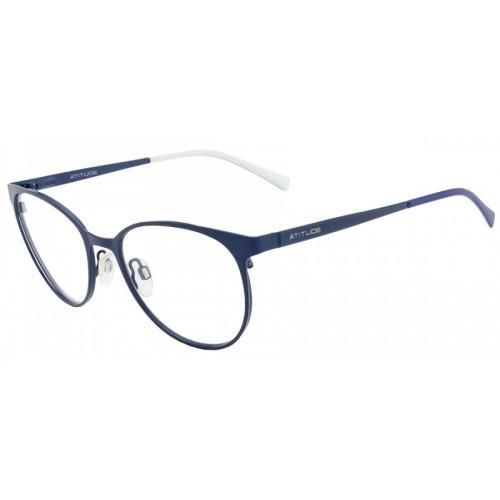 4f65c2cf8a325 Armação Óculos Grau Feminino - Atitude At1570 - Redondo Azul - R ...