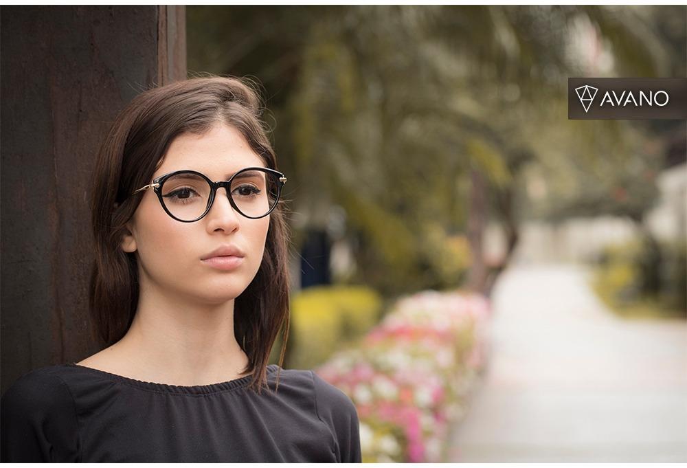 5855dee76f0f4 Armação Oculos Grau Feminino Avano Av 62-c Acetato Original - R  70 ...